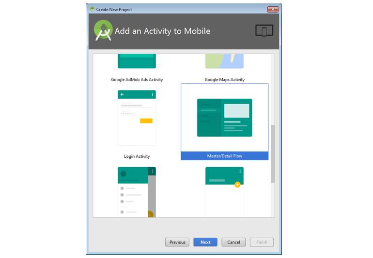Screenshot of android app
